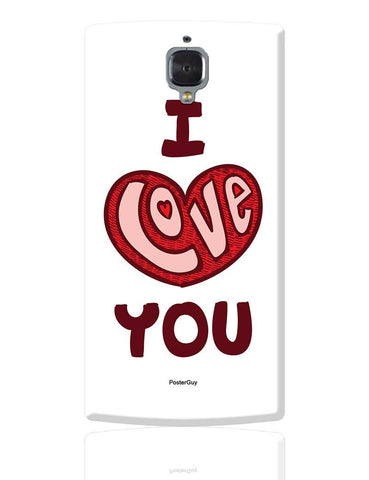 I Love You Red Valentine'S Day OnePlus 3 Cover Online India