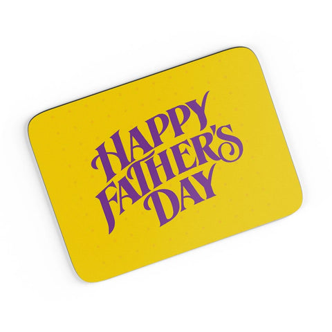 Happy Father's Day Purple Typography A4 Mousepad Online India