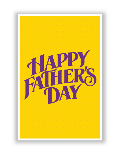 Posters | Happy Father's Day Purple Typography Poster Online India