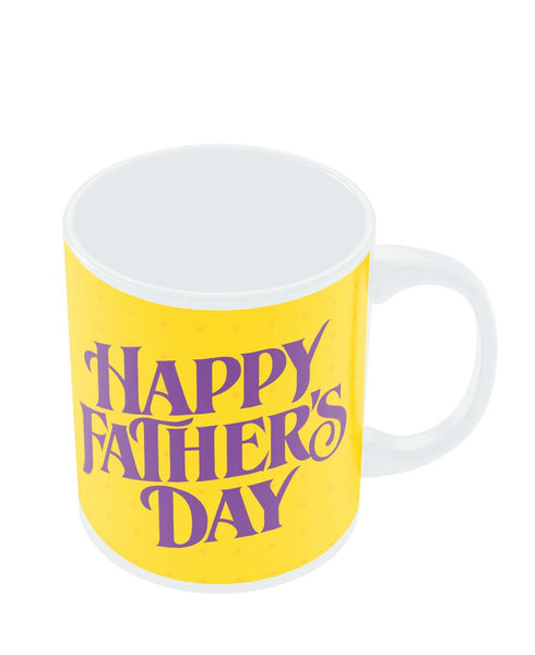 Mugs | Happy Father's Day Purple Typography Mug Online India