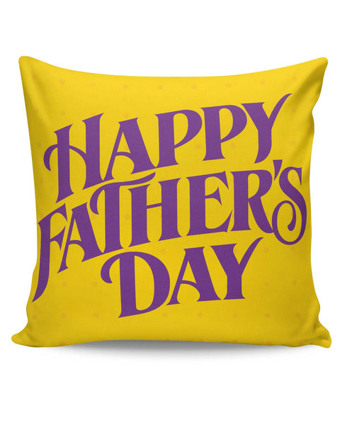 PosterGuy | Happy Father's Day Purple Typography Cushion Cover Online India