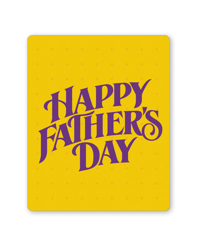 PosterGuy | Happy Father's Day Purple Typography Mouse Pad 1013788216 Online India