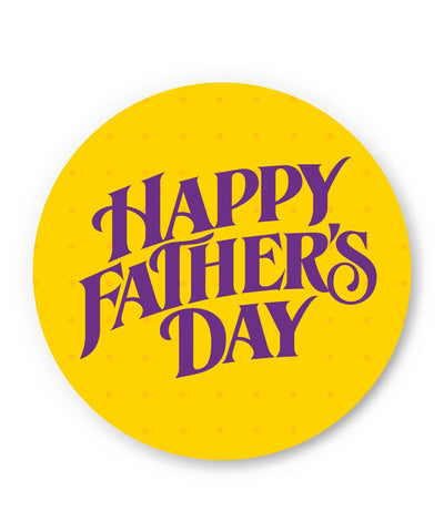 PosterGuy | Happy Father's Day Purple Typography Fridge Magnet 1013788219 Online India