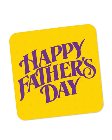 Coasters | Happy Father's Day Purple Typography Coaster 1013788229 Online India | PosterGuy.in