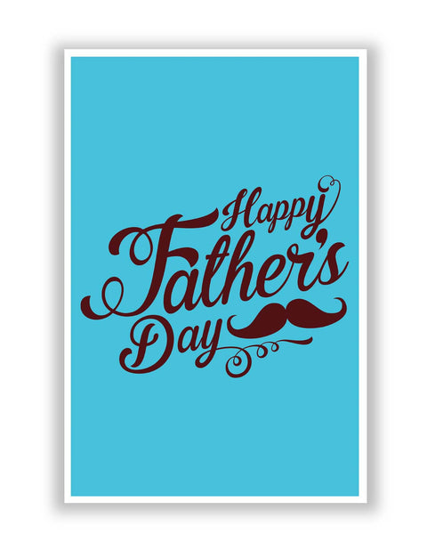 Posters | Happy Father's Day Brown Typography Poster Online India