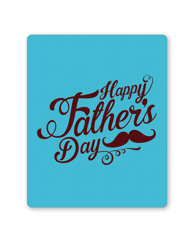 PosterGuy | Happy Father's Day Brown Typography Mouse Pad 1013798216 Online India