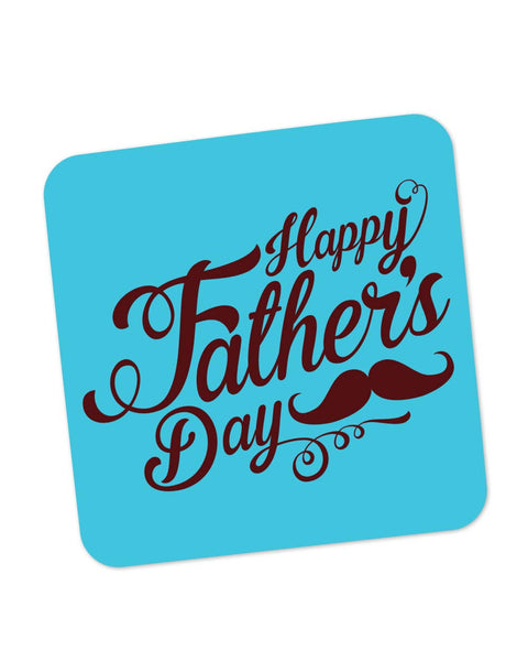 Coasters | Happy Father's Day Brown Typography Coaster 1013798229 Online India | PosterGuy.in