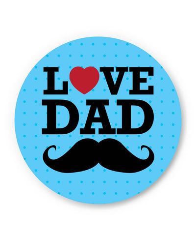 PosterGuy | Love Dad Moustache | Father's Day Fridge Magnet 1013808219 Online India