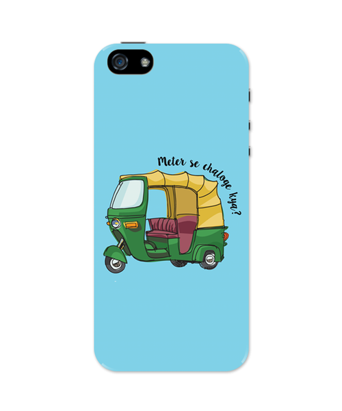 Meter Se Chaloge Kya? Quirky Auto Rikhshaw iPhone 5 / 5S Case