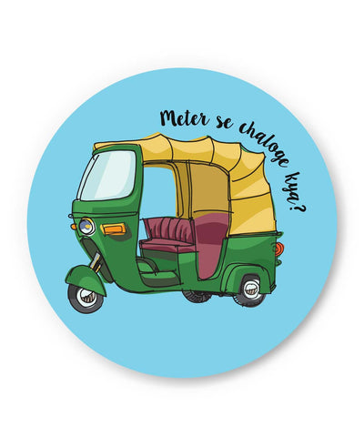 PosterGuy | Meter Se Chaloge Kya? Quirky Auto Rikhshaw Fridge Magnet 1013848319 Online India
