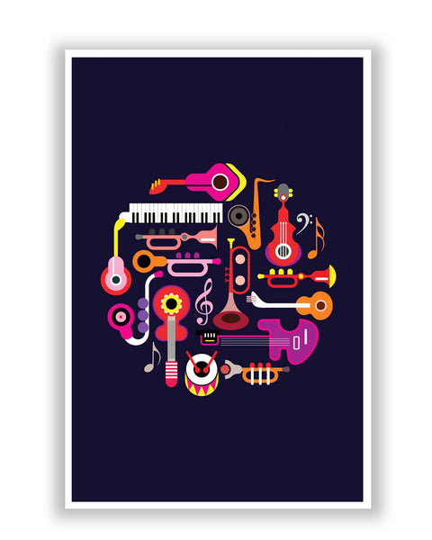 Posters | Music Flat Abstract Art Poster Online India