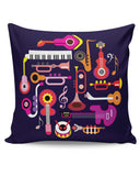 PosterGuy | Music Flat Abstract Art Cushion Cover Online India