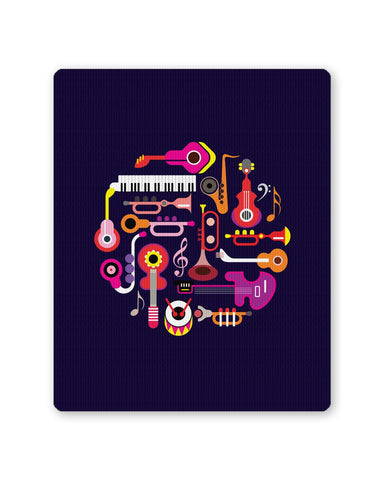 PosterGuy | Music Flat Abstract Art Mouse Pad 1013878316 Online India