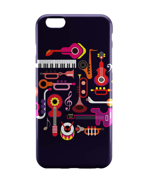 iPhone 6 Case & iPhone 6S Case | Music Flat Abstract Art iPhone 6 | iPhone 6S Case Online India | PosterGuy