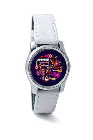 Women Wrist Watches India | Music Flat Abstract Art Wrist Watch Online India