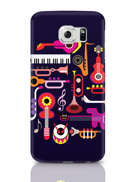 Samsung Galaxy S6 Covers & Cases | Music Flat Abstract Art Samsung Galaxy S6 Covers & Cases Online India