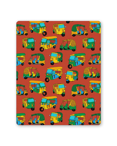 PosterGuy | Auto Rickshaw Quirky Pattern Mouse Pad 1013888316 Online India