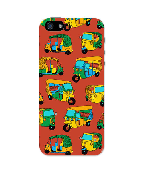 iPhone 5 / 5S Cases| Auto Rickshaw Quirky Pattern iPhone 5 / 5S Case 1013888317 Online India