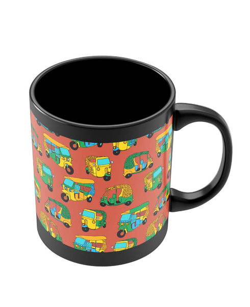 Mugs | Auto Rickshaw Quirky Pattern Mug Online India