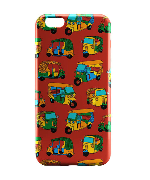 iPhone 6 Case & iPhone 6S Case | Auto Rickshaw Quirky Pattern iPhone 6 | iPhone 6S Case Online India | PosterGuy