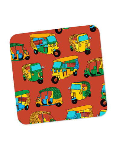 Coasters | Auto Rickshaw Quirky Pattern Coaster 1013888329 Online India | PosterGuy.in