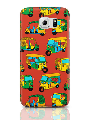 Samsung Galaxy S6 Covers & Cases | Auto Rickshaw Quirky Pattern Samsung Galaxy S6 Covers & Cases Online India