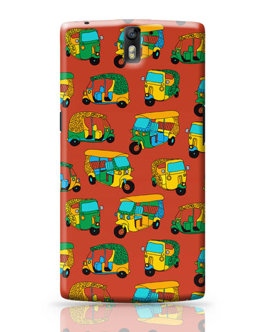 OnePlus One Covers | Auto Rickshaw Quirky Pattern OnePlus One Covers Online India