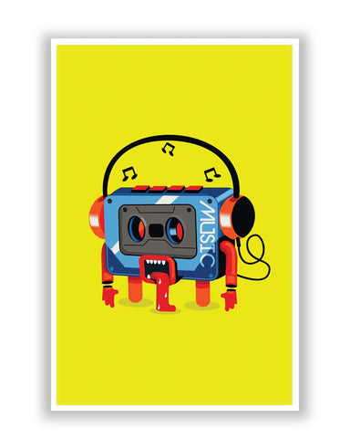 Posters | Music Lick | Quirky Audiotape Poster Online India