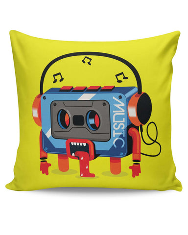 PosterGuy | Music Lick | Quirky Audiotape Cushion Cover Online India