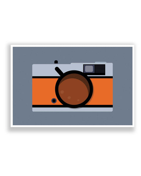 Posters Online | Coffee Camera Art Poster Online India | Designed by: Mayank Dhawan
