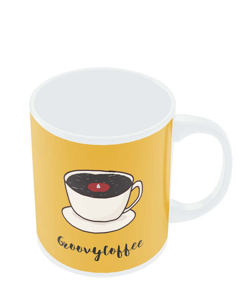 Mugs | Groovy Coffee Illustration Mug Online India