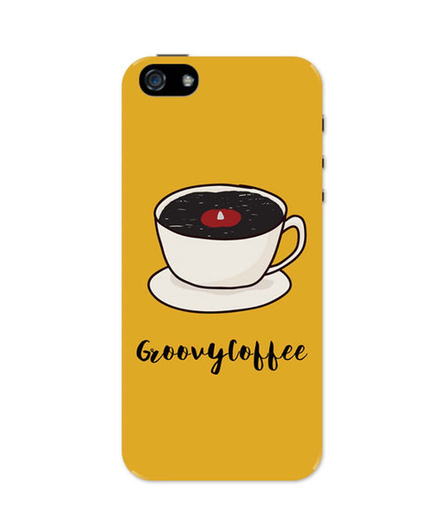 iPhone 5 / 5S Cases| Groovy Coffee Illustration iPhone 5 / 5S Case Online India