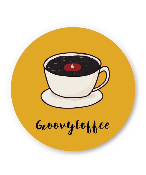 PosterGuy | Groovy Coffee Illustration Fridge Magnet 1014178319 Online India