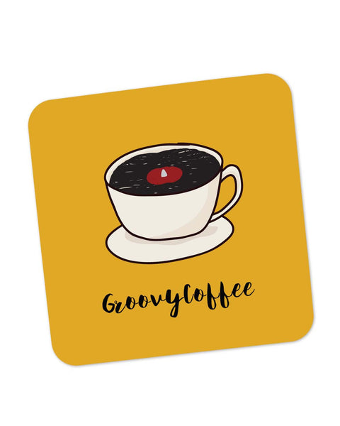 Coasters | Groovy Coffee Illustration Coaster 1014178329 Online India | PosterGuy.in