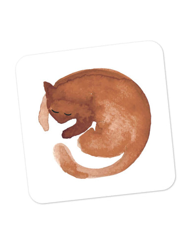 Coasters | Coffee Stain Cat Coaster 1014188329 Online India | PosterGuy.in