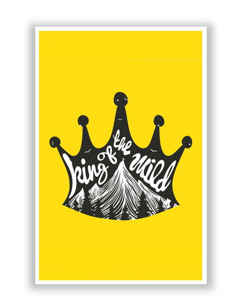 Posters Online | King Of The World | Crown Poster Online India | Designed by: Mayank Dhawan
