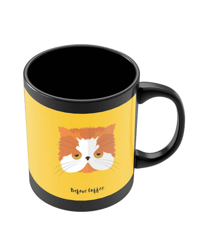 Mugs | Before and After Coffee Cat Black Coffee Mug Online India