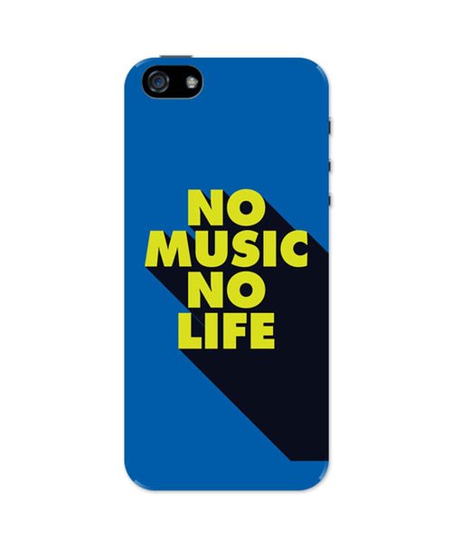 iPhone 5 / 5S Cases| No Music No Life iPhone 5 / 5S Case Online India