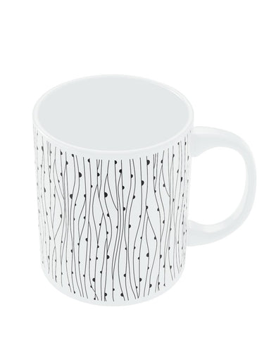 Coffee Mugs Online | 1/2 Dimension Line Art Circle Mug Online India