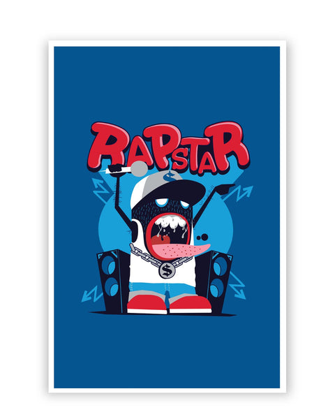 Posters Online | Rapstar Quirky Illustration Poster Online India | Designed by: Mayank Dhawan