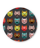 PosterGuy | Quirky Moustache Cats Pattern Fridge Magnet Online India by Mayank Dhawan