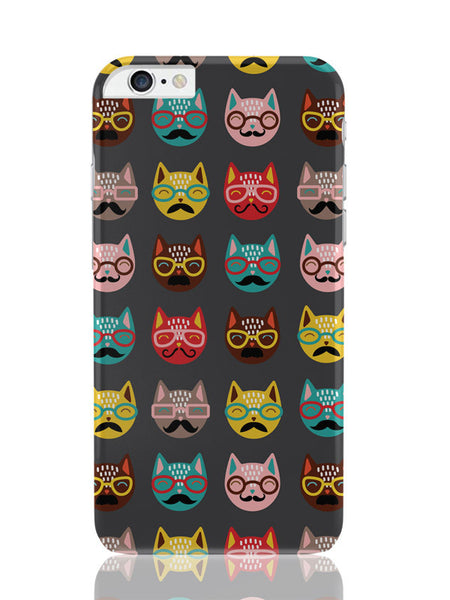 iPhone 6 Plus / 6S Plus Covers & Cases | Quirky Moustache Cats Pattern iPhone 6 Plus / 6S Plus Covers and Cases Online India