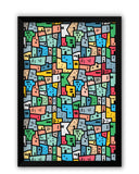 Framed Posters | Mosaic City Circuit Laminated Framed Poster Online India
