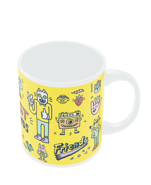 Coffee Mugs Online | Friends Doodle Illustration Mug Online India
