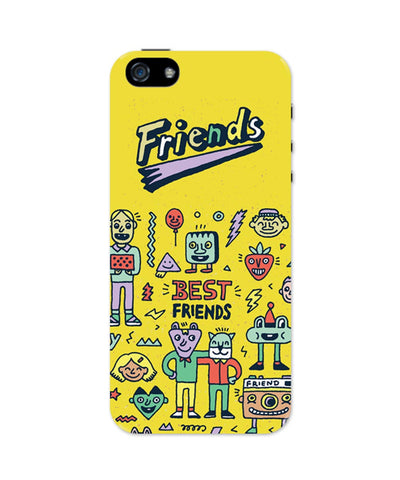 iPhone 5 / 5S Cases & Covers | Friends Doodle Illustration iPhone 5 / 5S Case Online India