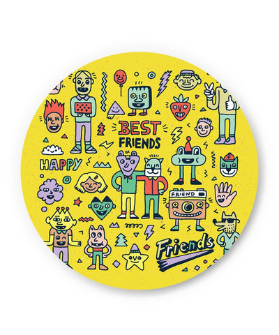 PosterGuy | Friends Doodle Illustration Fridge Magnet Online India by Mayank Dhawan