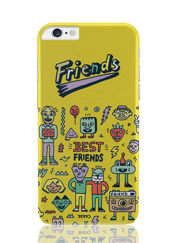 iPhone 6 Plus / 6S Plus Covers & Cases | Friends Doodle Illustration iPhone 6 Plus / 6S Plus Covers and Cases Online India