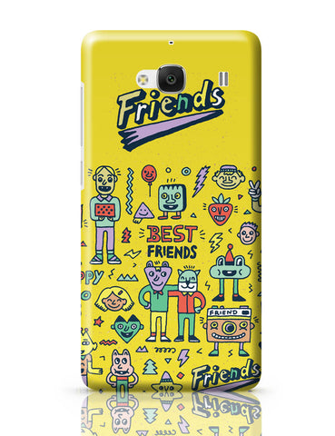 Xiaomi Redmi 2 / Redmi 2 Prime Cover| Friends Doodle Illustration Redmi 2 / Redmi 2 Prime Online India