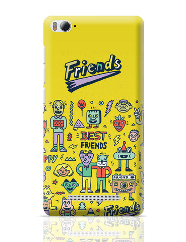 Xiaomi Mi 4i Covers | Friends Doodle Illustration Xiaomi Mi 4i Cover Online India