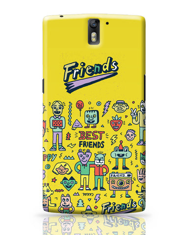 OnePlus One Covers | Friends Doodle Illustration OnePlus One Covers Online India
